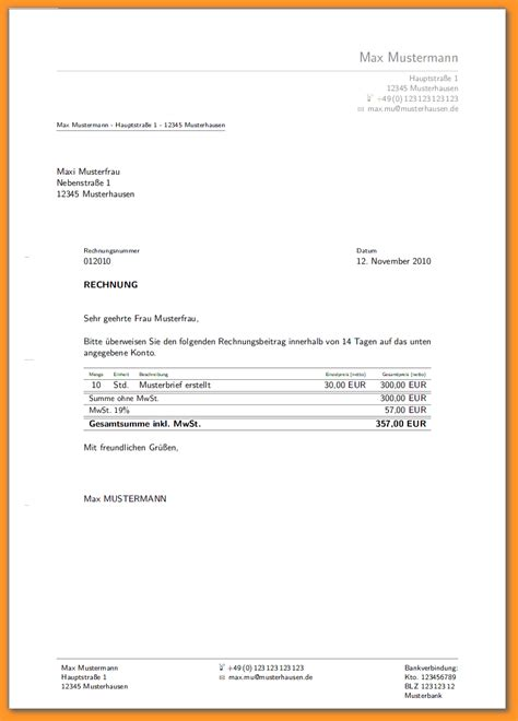 Vorlage Rechnung Quittung 5 Quittungsvorlage Ohne Mwst Bewerbungsschreiben