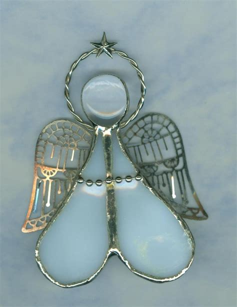handmade stained glass angel filigree wings christmas tree