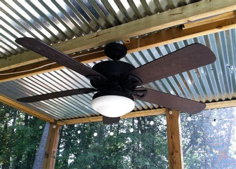 Tin Roof Ceiling by Corrugated Tin Patio Ceiling Rustic