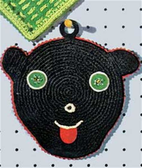 black jaguar pattern black panther potholder pattern s 703 crochet patterns