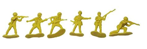 Set Army Yellow 50 plastic yellow army 2 inch soldiers toys