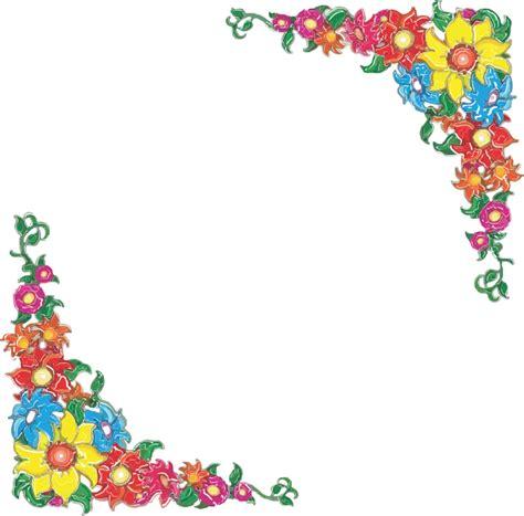 flower design page borders simple flower page border designs clipart best