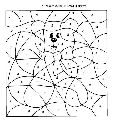 free holiday color by number coloring pages by numbers coloring pages