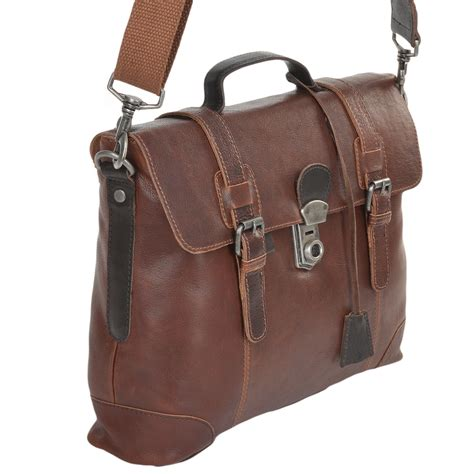 medium leather work briefcase brown 4554