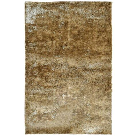 Lanart Silk Reflections Gold 5 Ft X 7 Ft 6 In Area Rug Rugs Home Depot