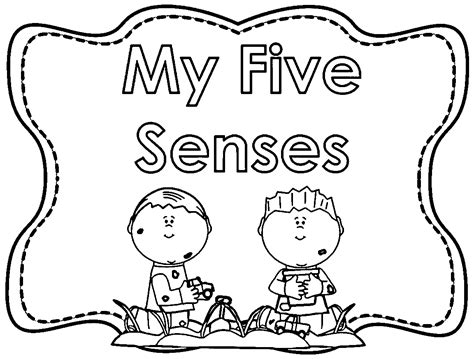 Five Senses Coloring Pages Coloring Home Five Senses Coloring Page