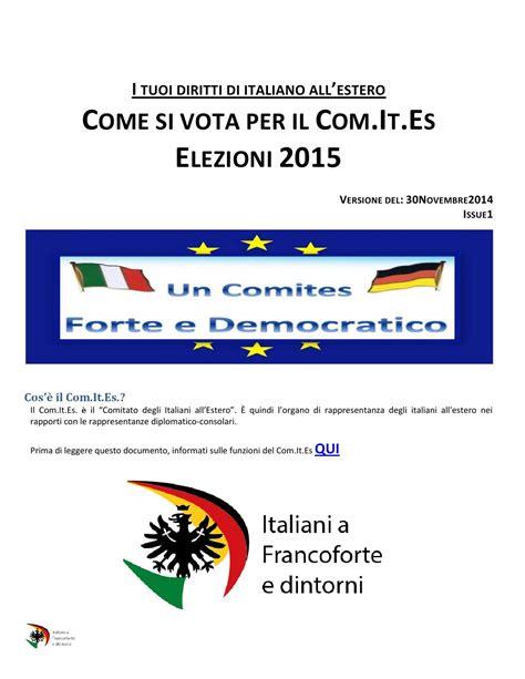 consolato italiano francoforte it es come si vota per le elezioni 2015 by italiani