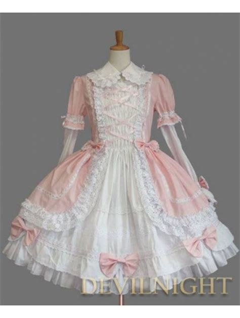 Bloomings Jumbo Ribbon Hitam Blouse pink and white sleeves bow sweet dress devilnight co uk