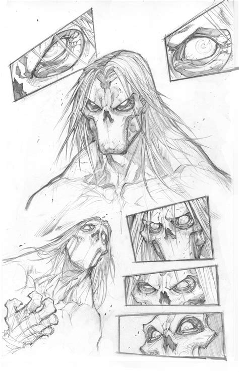 X Character Sketches by Darksiders Ii Character Development Sketches