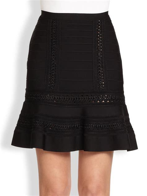 A289 Herve Ledger Skirt herv 233 l 233 ger a line crochet skirt in black lyst