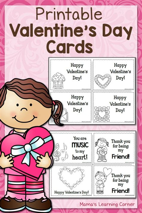 make your own valentines day card printable s day cards mamas learning corner
