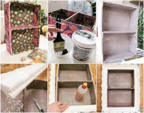 Diy Cheap Home Decor by Cheap Diy Home Decor Idea Decorative Cardboard Wall Shelf
