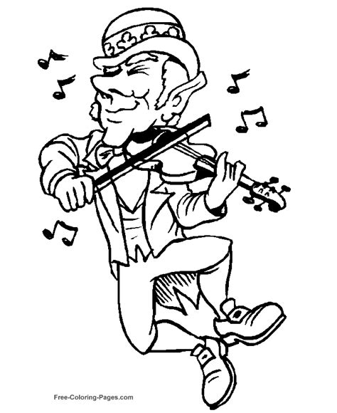 coloring pages for st s day st s day coloring pages leprechaun a fiddle
