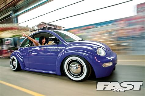 retro new vw beetle fast car