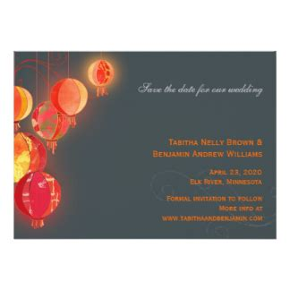 Wedding Invitations Asian Theme by Asian Theme Invitations Announcements Zazzle