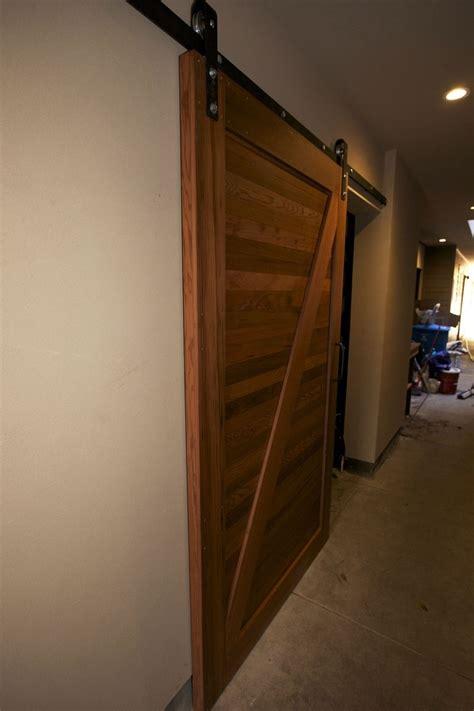 handmade reclaimed redwood sliding barn door spenchcraft custommadecom