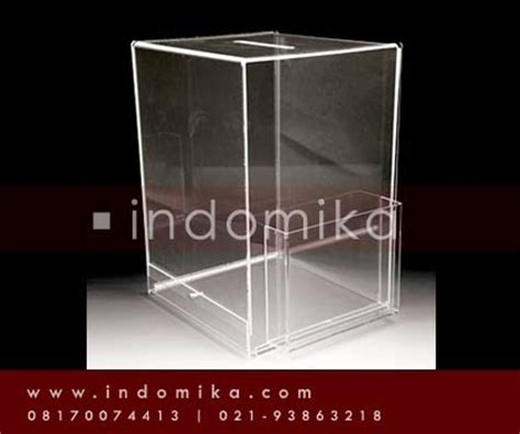 galeri akrilik menerima pemesanan kotak saran akrilik