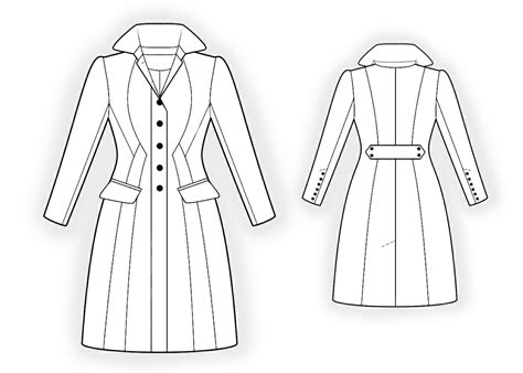 pattern sewing coat waisted coat sewing pattern 4298 made to measure