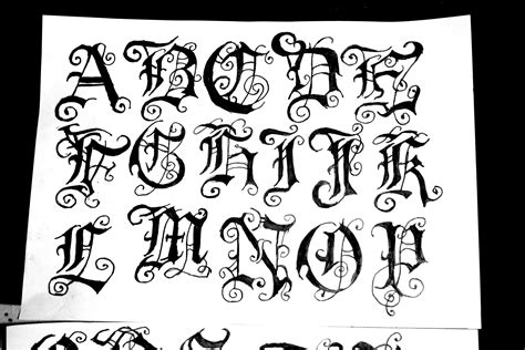 design gothic font 11 calligraphy alphabet gothic font images old