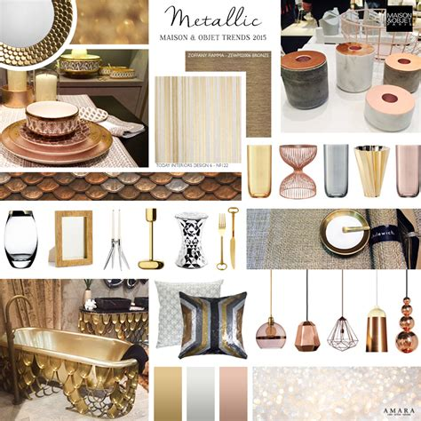 interior design trends 2016 decorating with metallics maison et objet trend report 2015 the luxpad