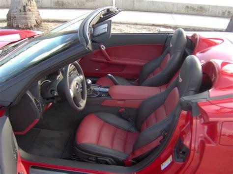 c6 corvette 2005 2011 gm two tone seat cover upgrades