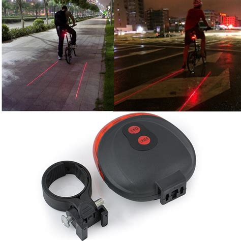 Lu Sepeda Raypal 5 Leds Light For Bicycle bicycle laser strobe taillight 5 led lu led sepeda