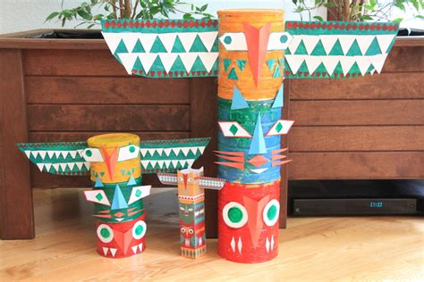 How To Make A Totem Pole Out Of Paper - diy totem pole