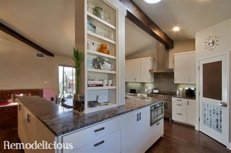 our mid century modern kitchen make remodelicious