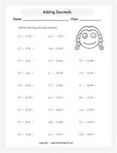 division of decimals by whole numbers worksheet free