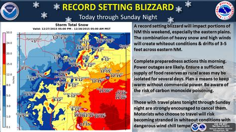 Nm Records Record Setting Blizzard To Hit New Mexico Age Now