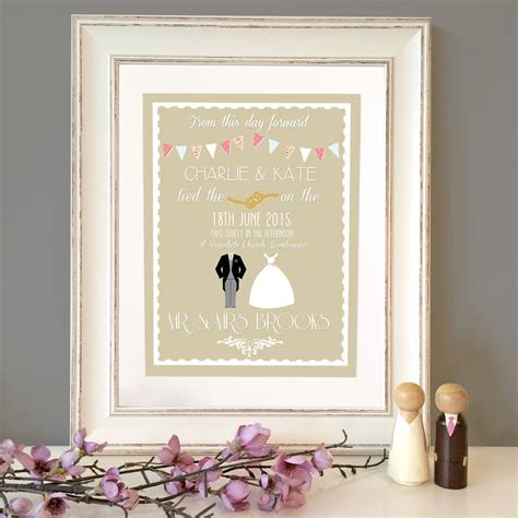 Wedding Prints by Personalised Classic Wedding Print By The Paper