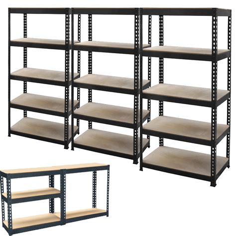 3 x 5 tier metal shelving shelf storage unit garage