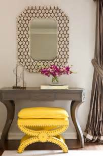 Entry Console Table With Mirror Grey Console Table Contemporary Entrance Foyer Massucco Warner Miller