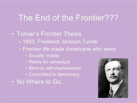 frederick turner thesis 1865 1890 in a nutshell