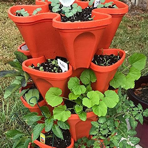 large vertical gardening stackable planters by mr stacky