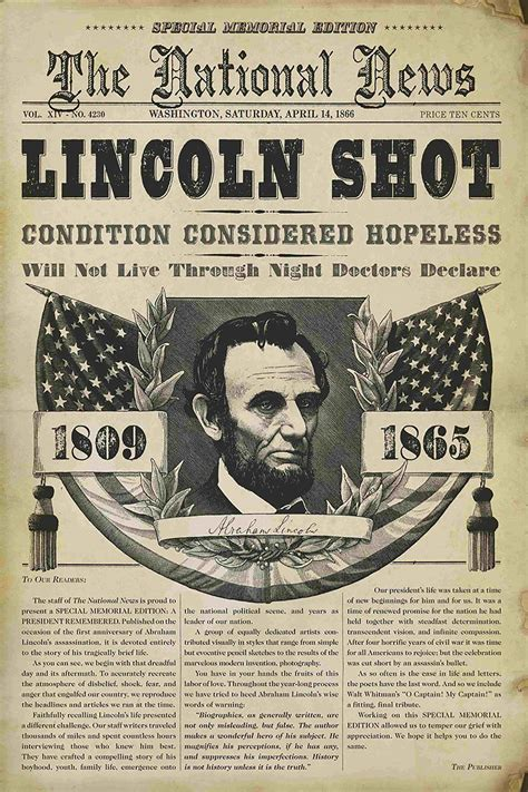 Pictures Of Abraham Lincoln S Assassination