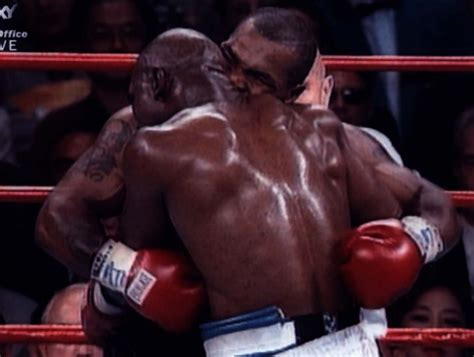 mike tyson returns evander holyfield s ear 16 years