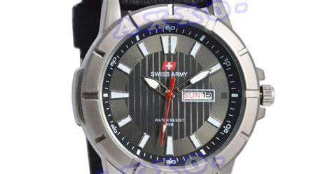Harga Koper Merk Swiss swiss army jam tangan pria hitam kanvas hitam