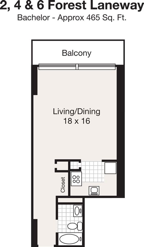 bachelor apartment floor plan apartments for rent at sheppard centre in york renterspages