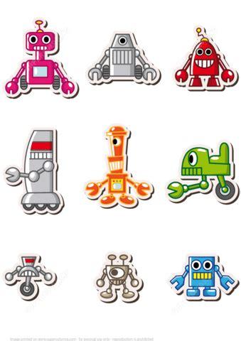 printable robot name tags printable robots stickers free printable papercraft