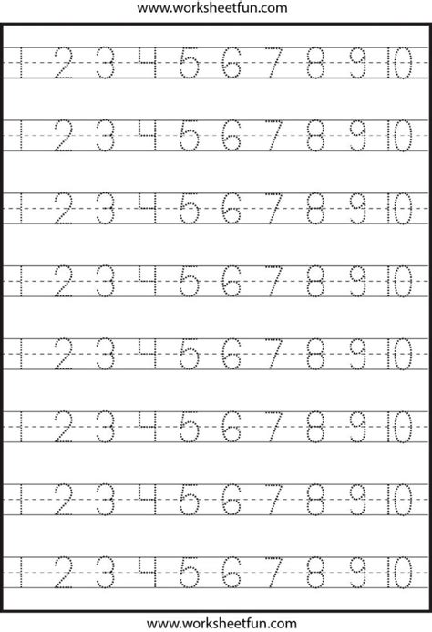 numbers tracing worksheets 10 for preschool printable coloring coloring pages number tracing 1 10 worksheet preschool