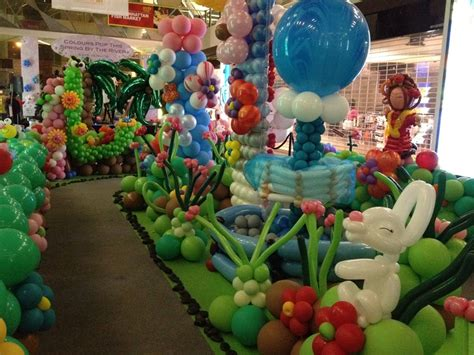 Balloon Simple Decoration by Colorful Ballon Decoration With Ballon Shape Doll Near