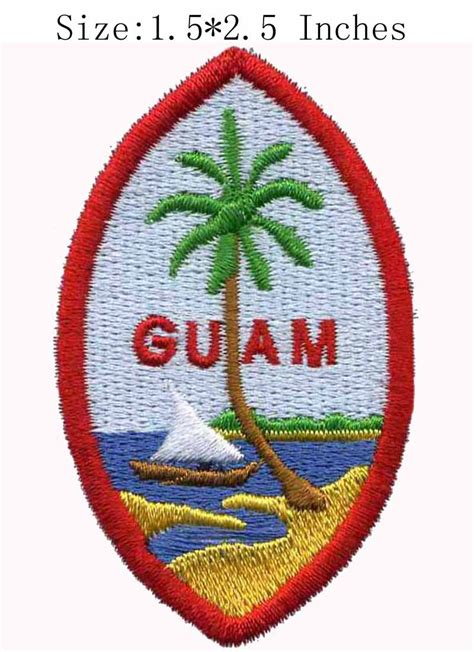 a seal named patches books aliexpress buy guam territory seal embroidery patch