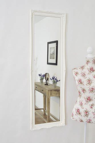 shabby chic length mirror matt white length shabby chic antique style