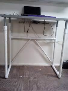 linnmon treadmill desk with pvc pipe legs ikea hackers