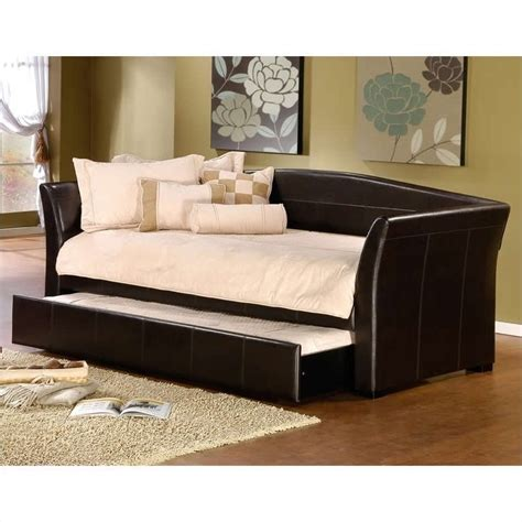 day bed montgomery daybed in brown faux leather 1560dbx