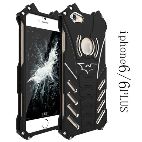 R Just Metal Cover Iphone 6 6 Plus Iron r just batman metal aluminum shockproof back cover for iphone 6 6s 7 plus ebay