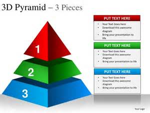 Powerpoint Pyramid Template by 3d Pyramid 3 Pieces Powerpoint Presentation Templates