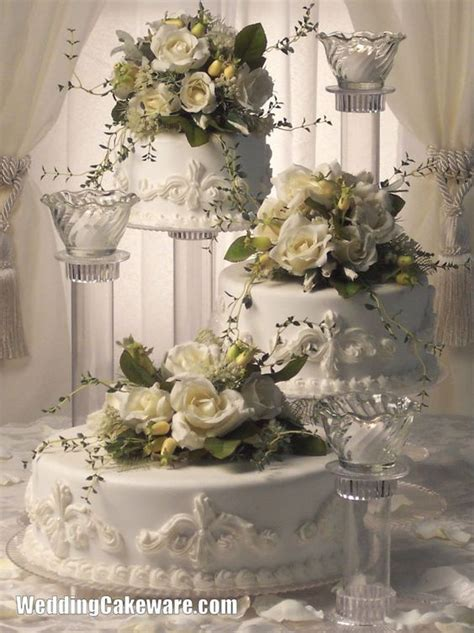 3 Tier Candle Stand 3 tier cascading wedding cake stand stands 3 tier candle