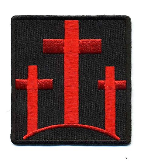 three crosses christian embroidered crosses morale hook loop patch ebay